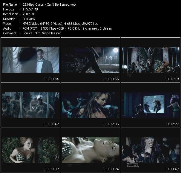 download Miley Cyrus « Can't Be Tamed » video vob