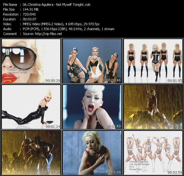 download Christina Aguilera « Not Myself Tonight » video vob