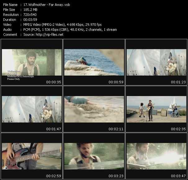 download Wolfmother « Far Away » video vob