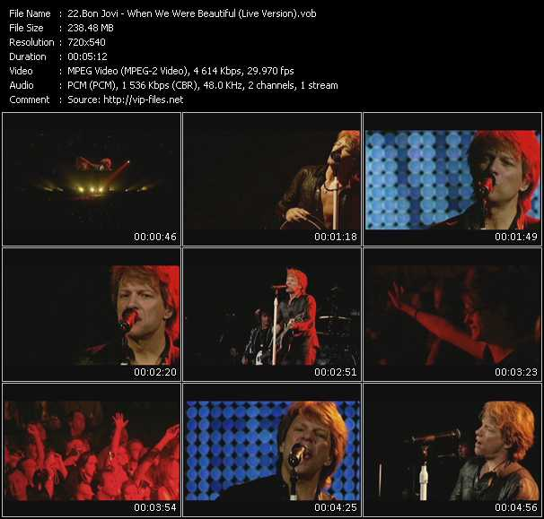 video When We Were Beautiful (Live Version) screen