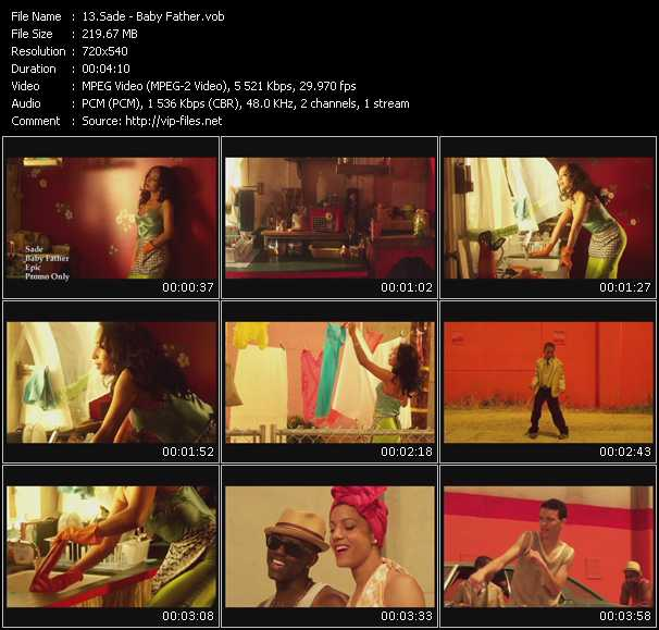 download Sade « Baby Father » video vob