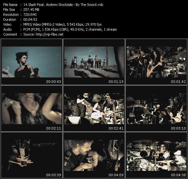 download Slash Feat. Andrew Stockdale « By The Sword » video vob