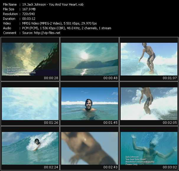 download Jack Johnson « You And Your Heart » video vob