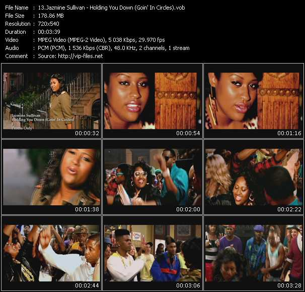 download Jazmine Sullivan « Holding You Down (Goin' In Circles) » video vob