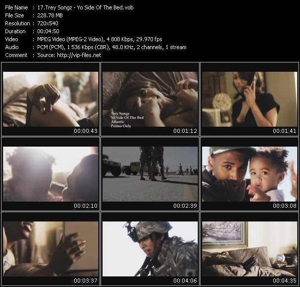 download Trey Songz « Yo Side Of The Bed » video vob