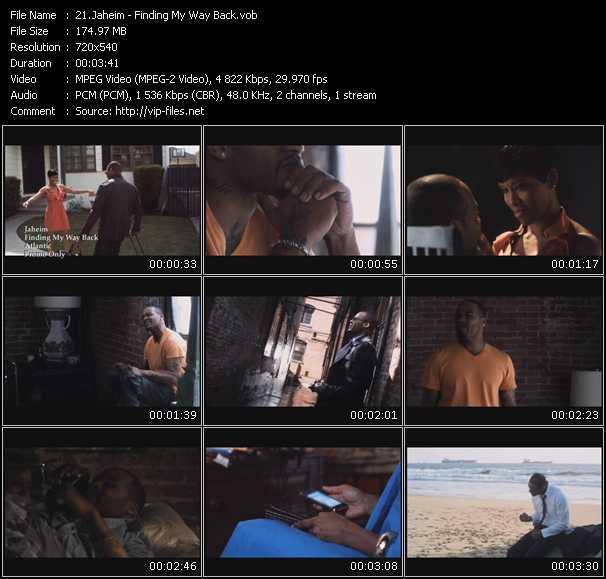 download Jaheim « Finding My Way Back » video vob
