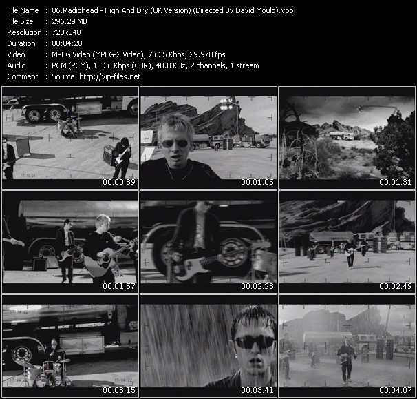 download Radiohead « High And Dry (UK Version) (Directed By David Mould) » video vob