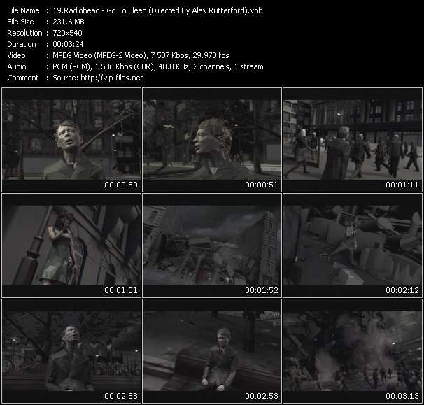 download Radiohead « Go To Sleep (Directed By Alex Rutterford) » video vob