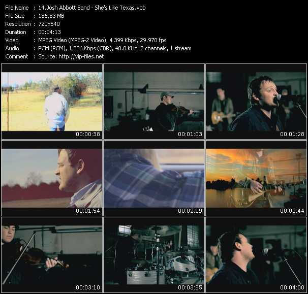 download Josh Abbott Band « She's Like Texas » video vob
