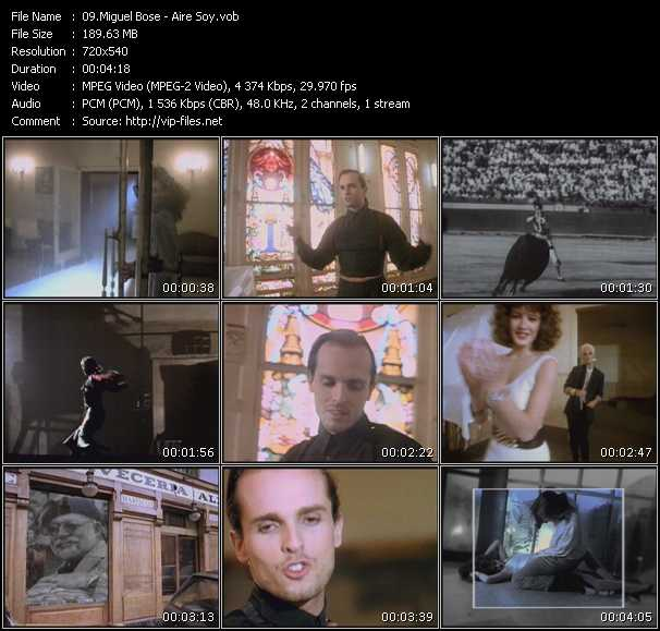 download Miguel Bose « Aire Soy » video vob