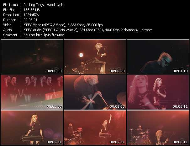 download Ting Tings « Hands » video vob