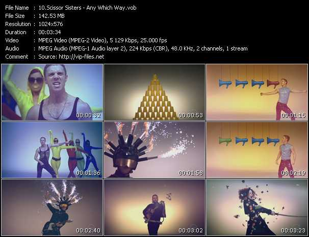 download Scissor Sisters « Any Which Way » video vob