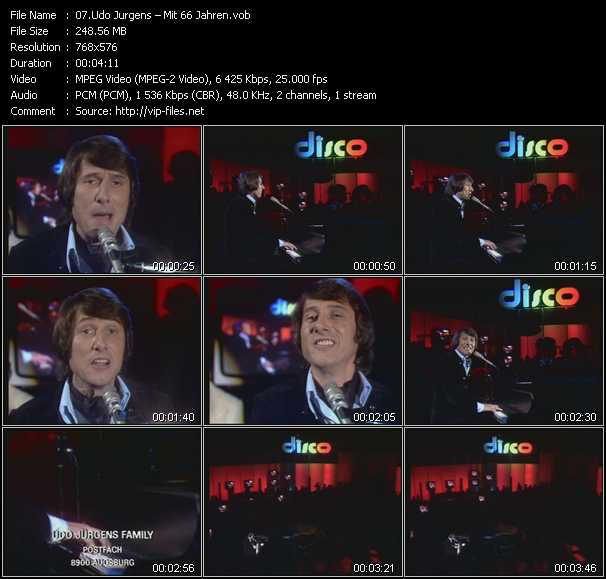 download Udo Jurgens « Mit 66 Jahren » video vob