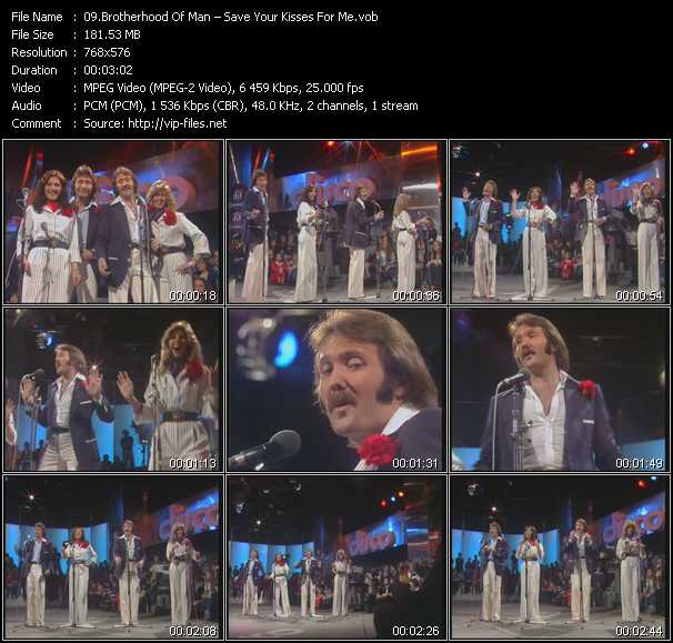 download Brotherhood Of Man « Save Your Kisses For Me » video vob