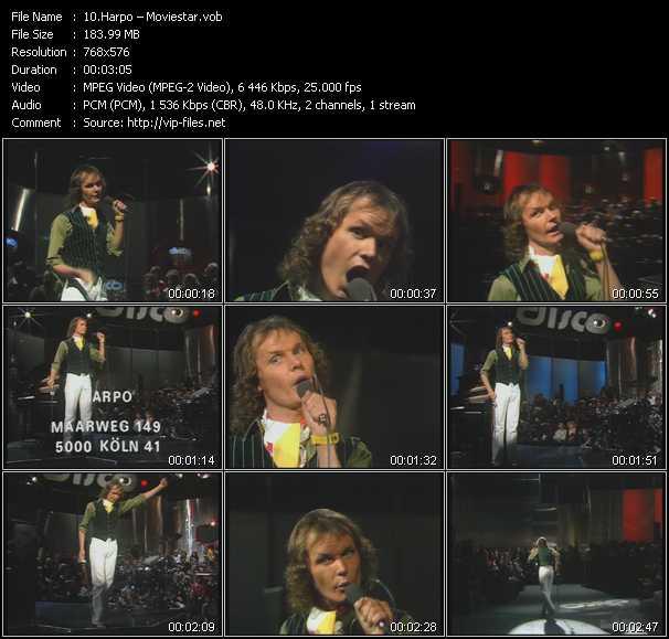 download Harpo « Moviestar » video vob
