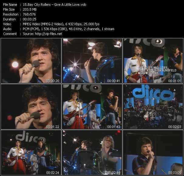 download Bay City Rollers « Give A Little Love » video vob