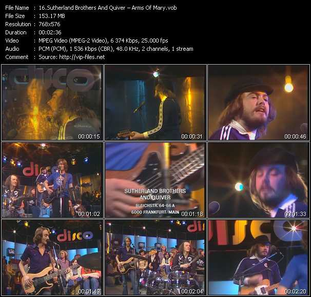 download Sutherland Brothers And Quiver « Arms Of Mary » video vob
