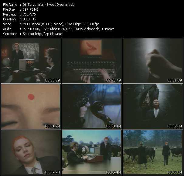 video Sweet Dreams screen