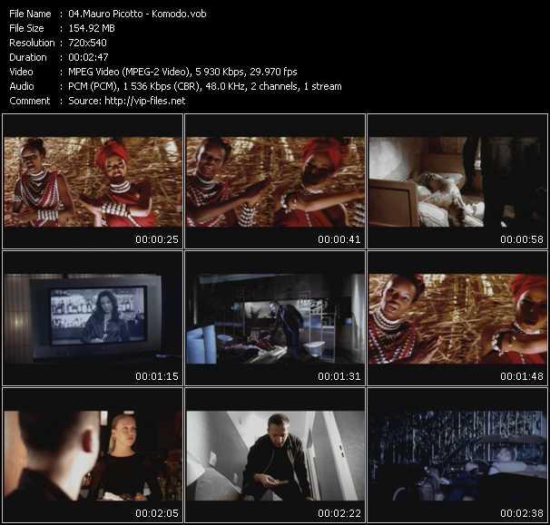 download Mauro Picotto « Komodo » video vob