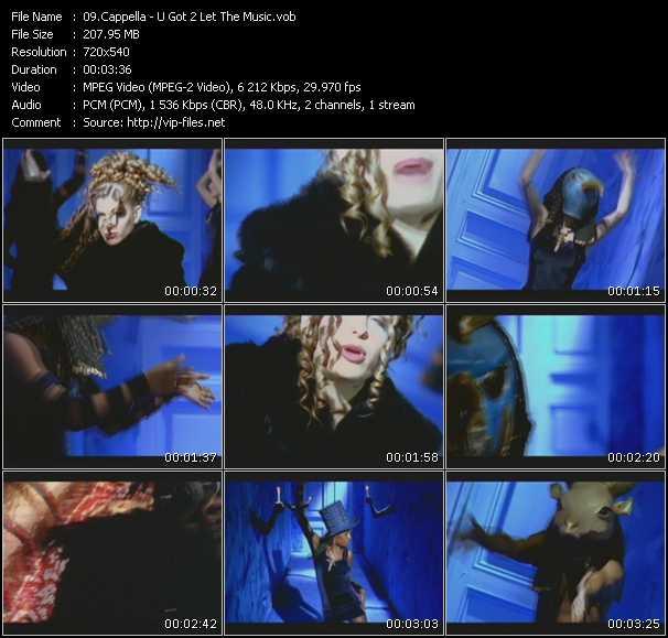 download Cappella « U Got 2 Let The Music » video vob
