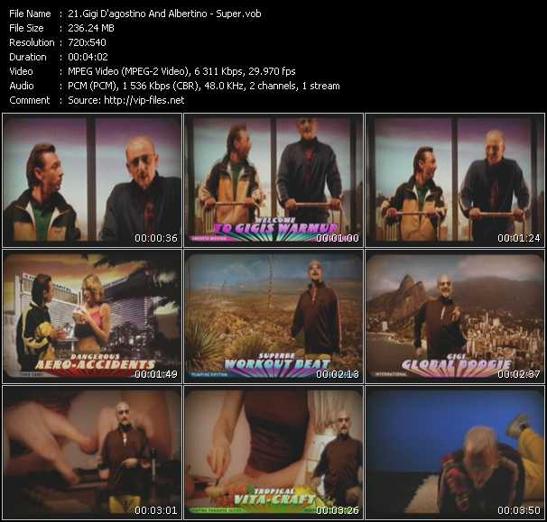 download Gigi D'Agostino And Albertino « Super » video vob