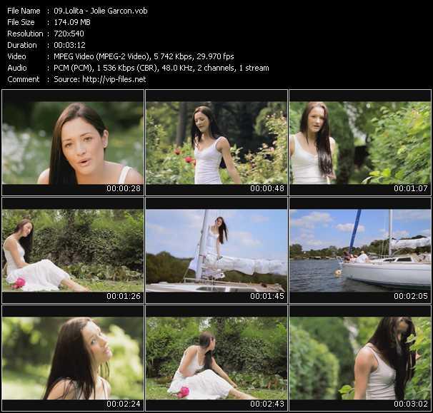 download Lolita « Jolie Garcon » video vob