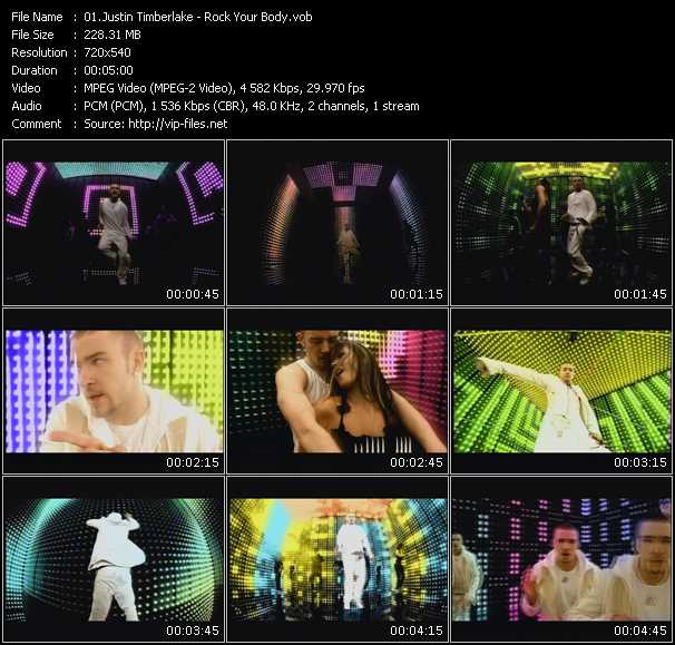 download Justin Timberlake « Rock Your Body » video vob