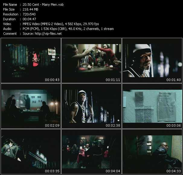 download 50 Cent « Many Men » video vob