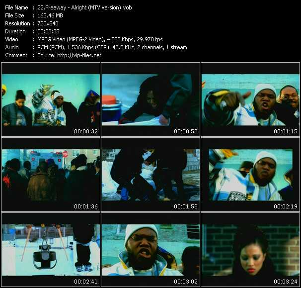 download Freeway « Alright (MTV Version) » video vob