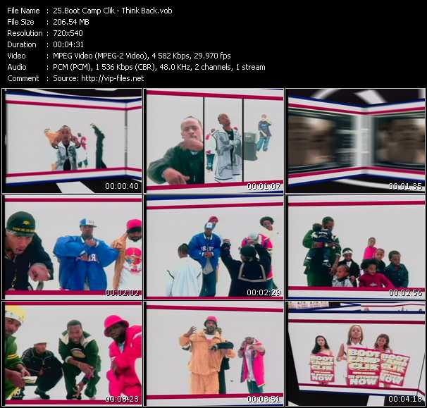 download Boot Camp Clik « Think Back » video vob