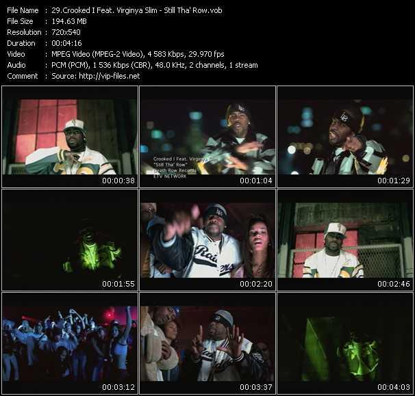 download Crooked I Feat. Virginya Slim « Still Tha' Row » video vob