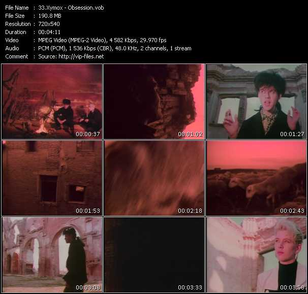 download Xymox « Obsession » video vob