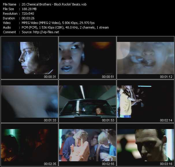 download Chemical Brothers « Block Rockin' Beats » video vob