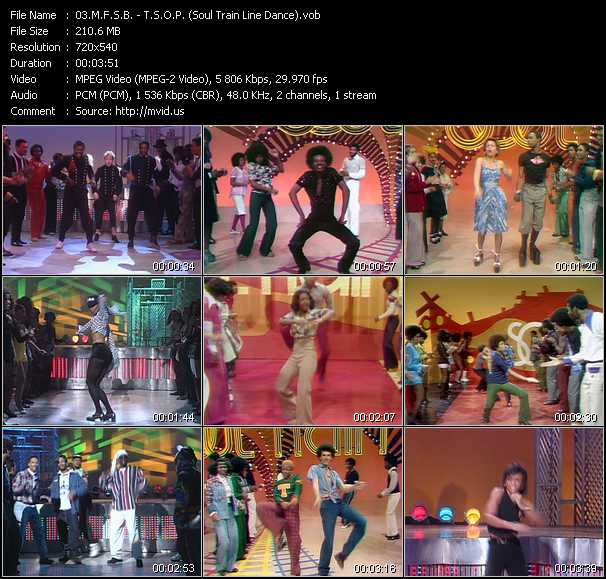 download M.F.S.B. « T.S.O.P. (Soul Train Line Dance) » video vob