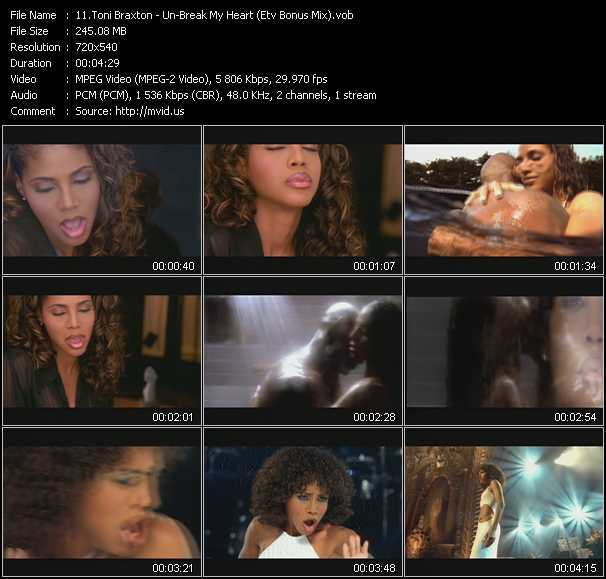 video Un-Break My Heart (ETV Bonus Mix) screen
