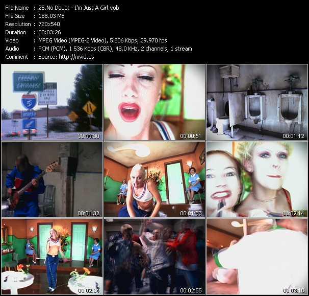 download No Doubt « I'm Just A Girl » video vob