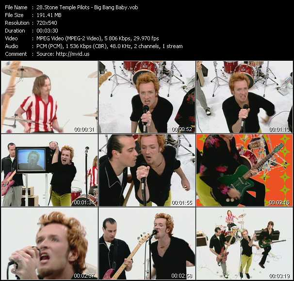 download Stone Temple Pilots « Big Bang Baby » video vob