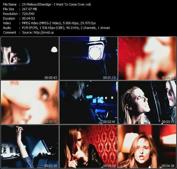 download Melissa Etheridge « I Want To Come Over » video vob