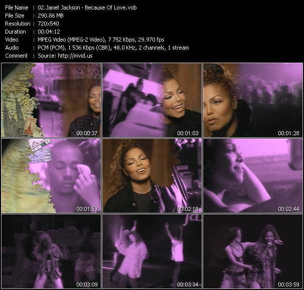download Janet Jackson « Because Of Love » video vob