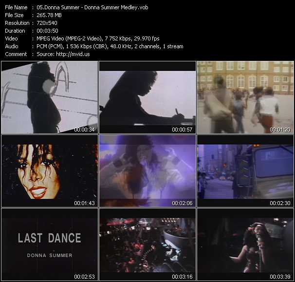 download Donna Summer « Donna Summer Medley » video vob