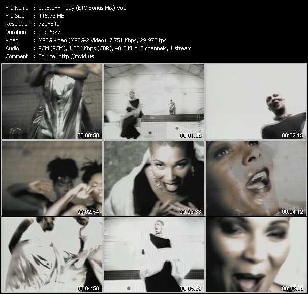 download Staxx « Joy (ETV Bonus Mix) » video vob