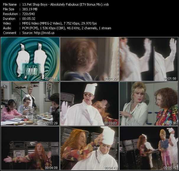 download Pet Shop Boys « Absolutely Fabulous (ETV Bonus Mix) » video vob