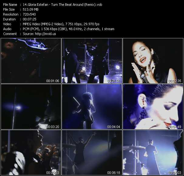 download Gloria Estefan « Turn The Beat Around (Remix) » video vob