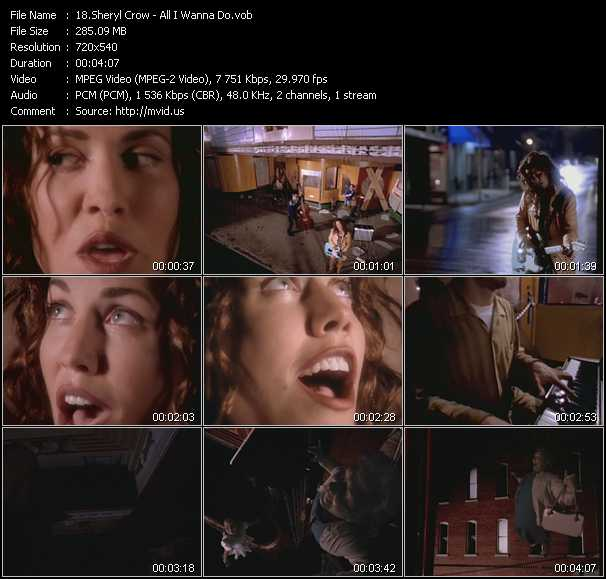 download Sheryl Crow « All I Wanna Do » video vob