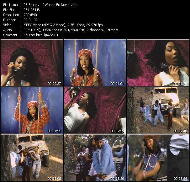 download Brandy « I Wanna Be Down » video vob