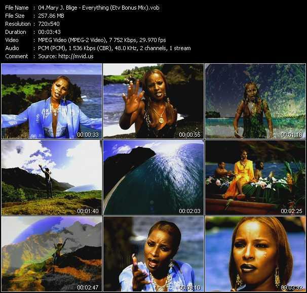 download Mary J. Blige « Everything (ETV Bonus Mix) » video vob