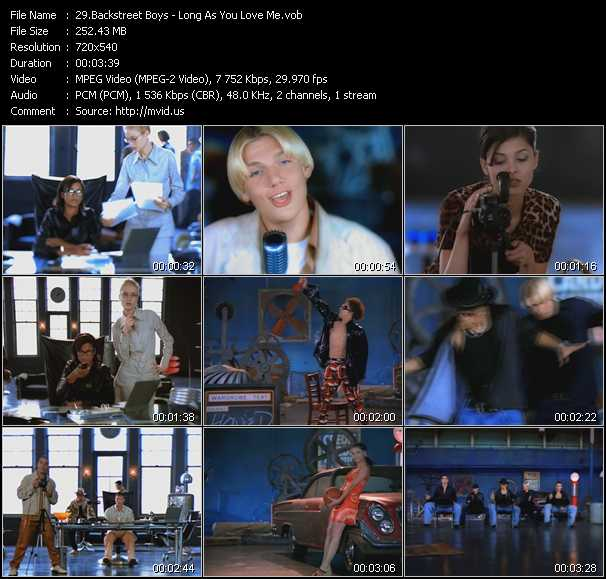 download Backstreet Boys « Long As You Love Me » video vob