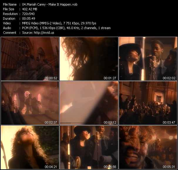 download Mariah Carey « Make It Happen » video vob
