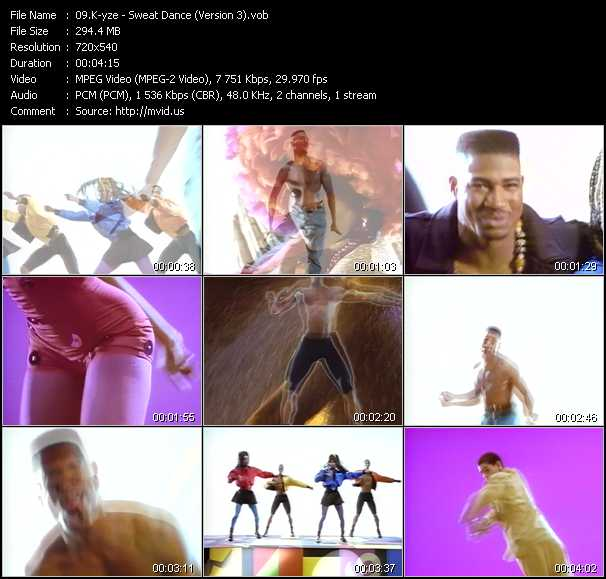video Sweat Dance (Version 3) screen