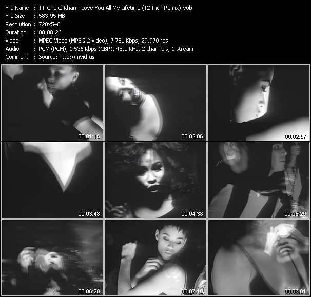 download Chaka Khan « Love You All My Lifetime (12 Inch Remix) » video vob